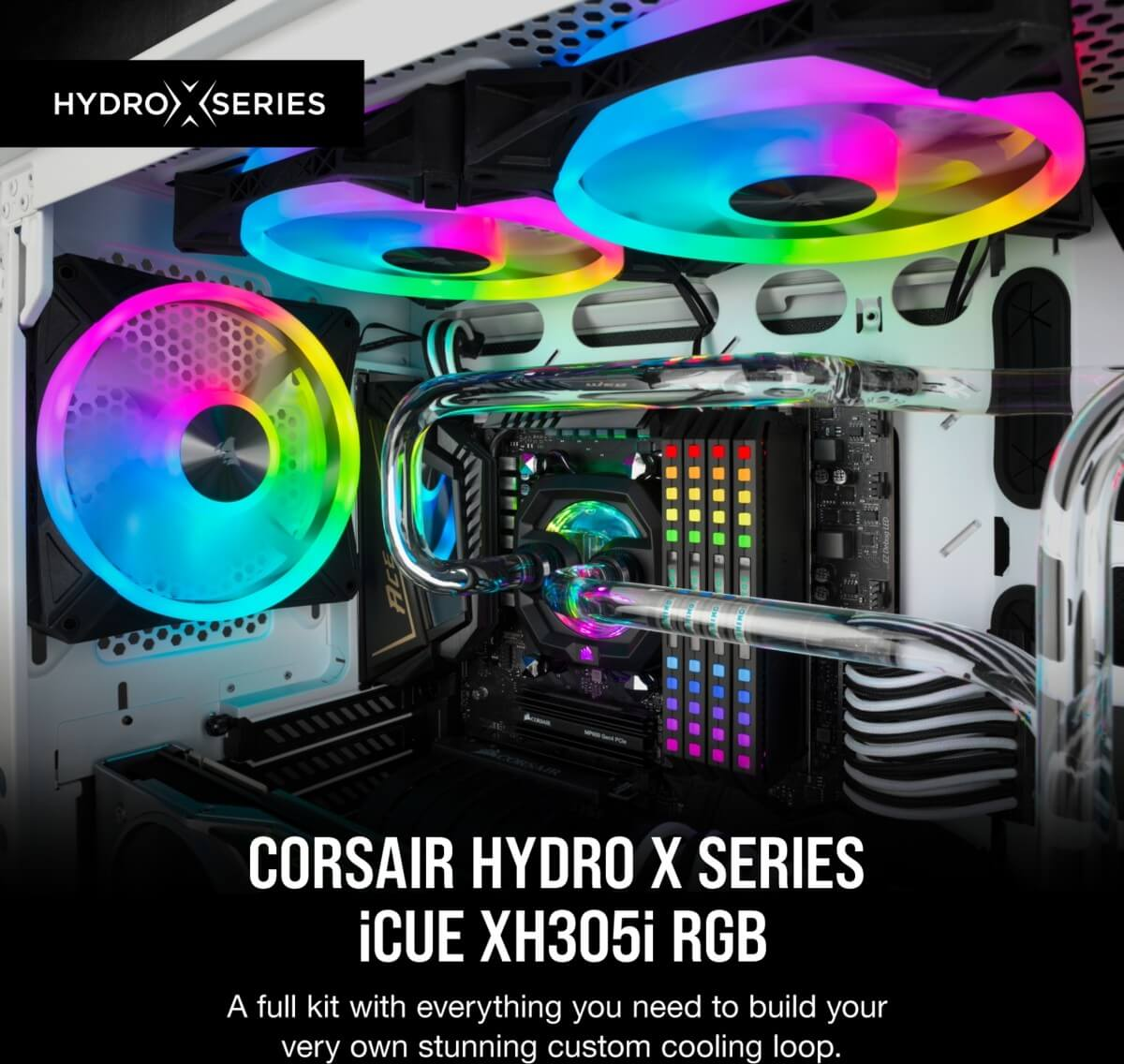 Corsair Hydro X Series iCUE XH305i RGB Custom Cooling Kit-image